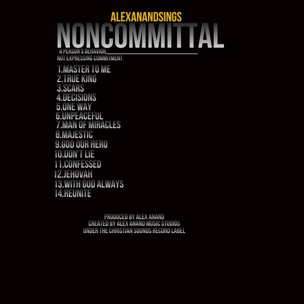 ALEX ANAND NONCOMMITTAL TRACKLIST Upload Your Music Free